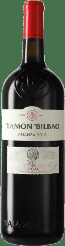 16,95 € Envío gratis | Vino tinto Ramón Bilbao Crianza D.O.Ca. Rioja La Rioja España Tempranillo Botella Mágnum 1,5 L