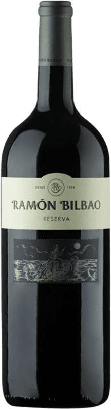 25,95 € Envío gratis | Vino tinto Ramón Bilbao Reserva D.O.Ca. Rioja La Rioja España Tempranillo, Graciano, Mazuelo, Cariñena Botella Mágnum 1,5 L