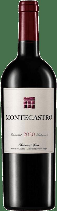 19,95 € Envío gratis | Vino tinto Montecastro D.O. Ribera del Duero Castilla y León España Tempranillo, Merlot, Cabernet Sauvignon Botella 75 cl