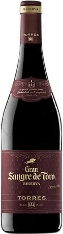 12,95 € | Red wine Torres Gran Sangre de Toro Reserva D.O. Catalunya Catalonia Spain Syrah, Grenache, Mazuelo, Carignan Bottle 75 cl