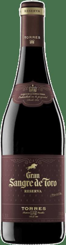 12,95 € 免费送货 | 红酒 Torres Gran Sangre de Toro Reserva D.O. Catalunya 加泰罗尼亚 西班牙 Syrah, Grenache, Mazuelo, Carignan 瓶子 75 cl