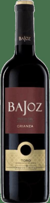 5,95 € Envío gratis | Vino tinto Pagos del Rey Bajoz Crianza D.O. Toro Castilla y León España Tempranillo Botella 75 cl