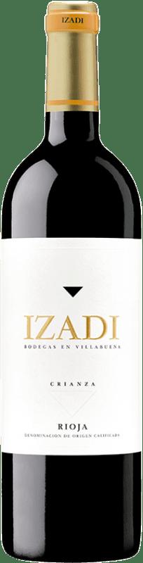 9,95 € Envío gratis | Vino tinto Izadi Crianza D.O.Ca. Rioja La Rioja España Tempranillo Botella 75 cl