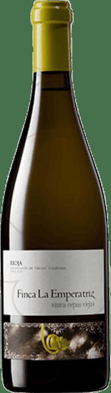 21,95 € 免费送货 | 白酒 Hernáiz Finca La Emperatriz Cepas Viejas Crianza D.O.Ca. Rioja 拉里奥哈 西班牙 Viura 瓶子 75 cl