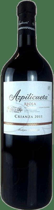 38,95 € | Red wine Campo Viejo Azpilicueta Crianza D.O.Ca. Rioja The Rioja Spain Tempranillo, Graciano, Mazuelo, Carignan Jéroboam Bottle-Double Magnum 3 L