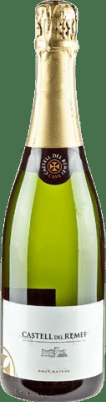 9,95 € 免费送货 | 白起泡酒 Castell del Remei Brut Nature Reserva D.O. Cava 加泰罗尼亚 西班牙 Macabeo, Xarel·lo, Parellada 瓶子 75 cl