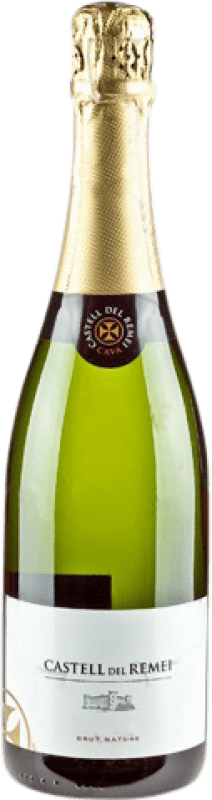 9,95 € Envío gratis | Espumoso blanco Castell del Remei Brut Nature Reserva D.O. Cava Cataluña España Macabeo, Xarel·lo, Parellada Botella 75 cl