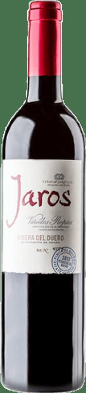29,95 € Envío gratis | Vino tinto Viñas del Jaro Jaros Crianza D.O. Ribera del Duero Castilla y León España Tempranillo, Merlot, Cabernet Sauvignon Botella Mágnum 1,5 L