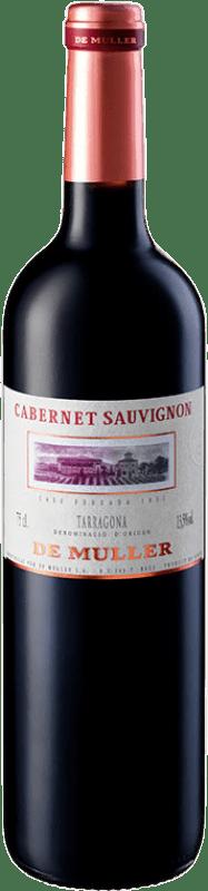 8,95 € Free Shipping | Red wine De Muller Crianza D.O. Tarragona Catalonia Spain Cabernet Sauvignon Bottle 75 cl