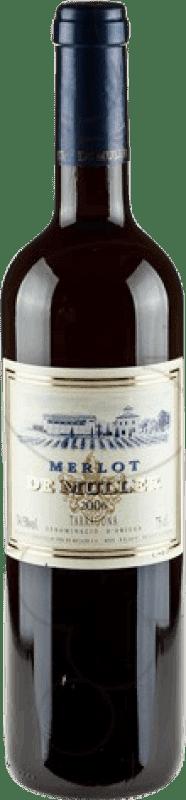 8,95 € Free Shipping | Red wine De Muller Negre Crianza D.O. Tarragona Catalonia Spain Merlot Bottle 75 cl