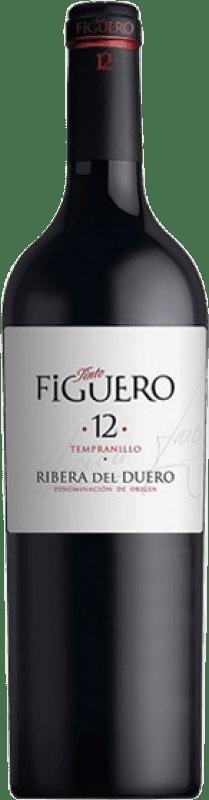 35,95 € Envío gratis | Vino tinto Figuero 12 meses Crianza D.O. Ribera del Duero Castilla y León España Tempranillo Botella Mágnum 1,5 L