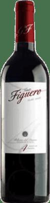 5,95 € Envío gratis | Vino tinto Figuero 4 Meses Roble D.O. Ribera del Duero Castilla y León España Tempranillo Media Botella 37 cl