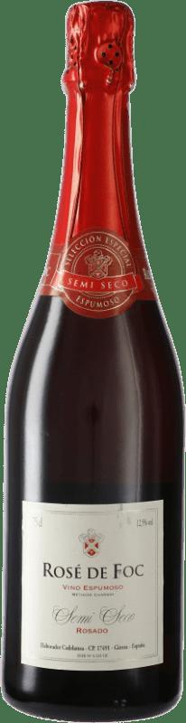 5,95 € Free Shipping | Rosé sparkling Perelada Rose de Foc Semi Dry Catalonia Spain Tempranillo, Grenache, Mazuelo, Carignan Bottle 75 cl