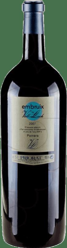 139,95 € | Red wine Vall Llach Embruix Crianza D.O.Ca. Priorat Catalonia Spain Merlot, Syrah, Grenache, Cabernet Sauvignon, Mazuelo, Carignan Special Bottle 5 L