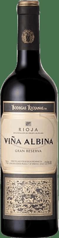 11,95 € Envoi gratuit | Vin rouge Bodegas Riojanas Viña Albina Gran Reserva D.O.Ca. Rioja La Rioja Espagne Tempranillo, Graciano, Mazuelo, Carignan Bouteille 75 cl