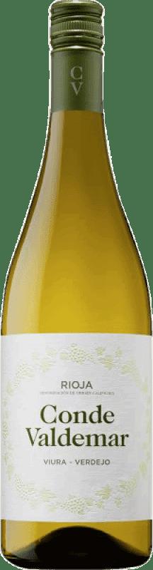 5,95 € 免费送货   白酒 Valdemar Conde de Valdemar Joven D.O.Ca. Rioja 拉里奥哈 西班牙 Tempranillo, Macabeo, Verdejo, Sauvignon White 瓶子 75 cl