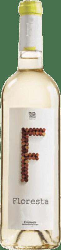 5,95 € Envío gratis | Vino blanco Pere Guardiola Floresta Joven D.O. Empordà Cataluña España Garnacha Blanca, Macabeo, Xarel·lo, Chardonnay, Sauvignon Blanca Botella 75 cl
