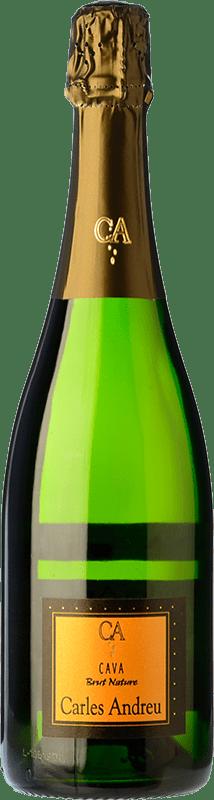7,95 € 免费送货 | 白起泡酒 Carles Andreu Brut Nature Joven D.O. Cava 加泰罗尼亚 西班牙 Macabeo, Parellada 瓶子 75 cl