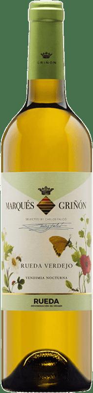 8,95 € 免费送货 | 白酒 Marqués de Griñón Joven D.O. Rueda 卡斯蒂利亚莱昂 西班牙 Verdejo 瓶子 75 cl