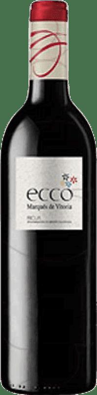 5,95 € Envoi gratuit | Vin rouge Marqués de Vitoria Ecco Joven D.O.Ca. Rioja La Rioja Espagne Tempranillo Bouteille 75 cl