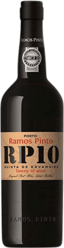 32,95 € Free Shipping | Fortified wine Ramos Pinto Tawny 10 Años Oporto I.G. Porto Portugal Tempranillo, Touriga Franca, Touriga Nacional, Tinta Amarela, Tinta Cão, Tinta Barroca Bottle 75 cl