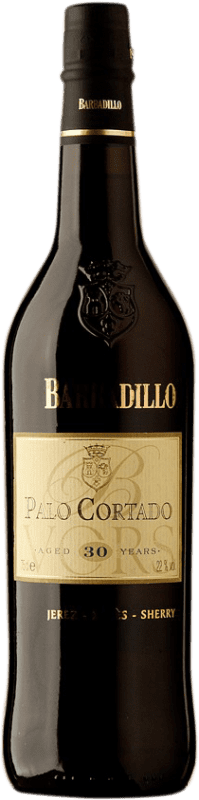 93,95 € Free Shipping | Fortified wine Barbadillo 30 Años Palo Cortado D.O. Jerez-Xérès-Sherry Andalucía y Extremadura Spain Palomino Fino Bottle 75 cl