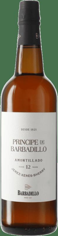 19,95 € 免费送货   强化酒 Barbadillo Príncipe Amontillado D.O. Jerez-Xérès-Sherry Andalucía y Extremadura 西班牙 瓶子 75 cl
