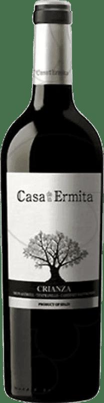 8,95 € Envío gratis | Vino tinto Casa de la Ermita Crianza D.O. Jumilla Levante España Tempranillo, Cabernet Sauvignon, Monastrell Botella 75 cl