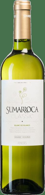 4,95 € Envío gratis | Vino blanco Sumarroca Clàssic Blanc de Blancs Joven D.O. Penedès Cataluña España Moscatel, Macabeo, Xarel·lo, Chardonnay, Parellada Botella 75 cl