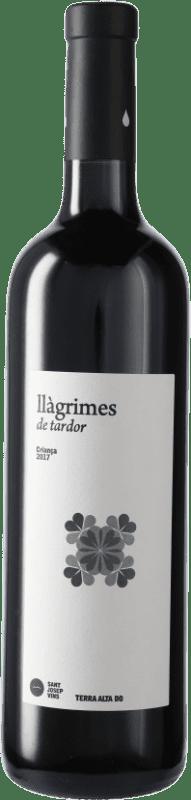 8,95 € Envío gratis | Vino tinto Sant Josep Llagrimes de Tardor Negre Crianza D.O. Terra Alta Cataluña España Tempranillo, Syrah, Garnacha, Mazuelo, Cariñena Botella 75 cl