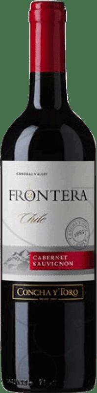 5,95 € 免费送货 | 红酒 Concha y Toro Frontera 智利 Cabernet Sauvignon 瓶子 75 cl
