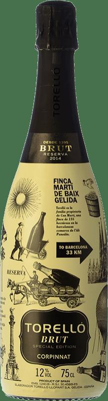 17,95 € Free Shipping | White sparkling Torelló Edicion Especial Brut Reserva D.O. Cava Catalonia Spain Macabeo, Xarel·lo, Parellada Bottle 75 cl