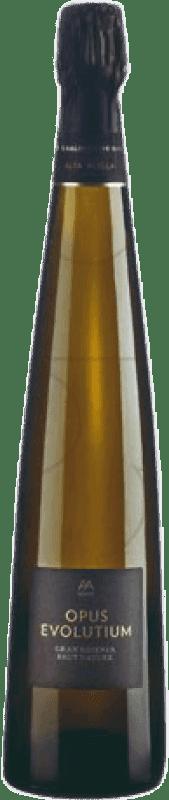 35,95 € 免费送货 | 白起泡酒 Alta Alella Privat Opus Evolutium Brut Nature Gran Reserva D.O. Cava 加泰罗尼亚 西班牙 Pinot Black, Chardonnay 瓶子 75 cl