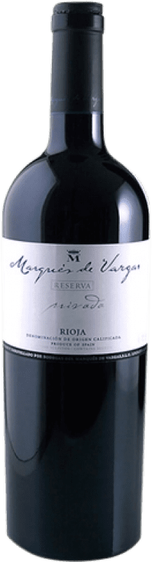59,95 € Envoi gratuit | Vin rouge Marqués de Vargas Reserva Privada Reserva 2005 D.O.Ca. Rioja La Rioja Espagne Tempranillo, Grenache, Mazuelo, Carignan Bouteille Magnum 1,5 L