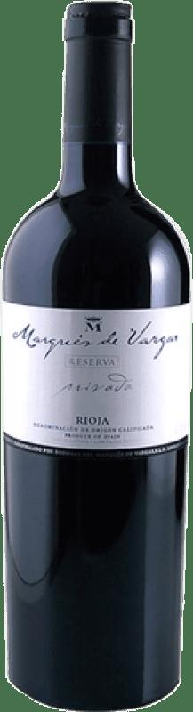 59,95 € Envío gratis | Vino tinto Marqués de Vargas Reserva Privada Reserva 2005 D.O.Ca. Rioja La Rioja España Tempranillo, Garnacha, Mazuelo, Cariñena Botella Mágnum 1,5 L