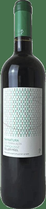 9,95 € Envío gratis | Vino tinto Piñol Sa Natura Crianza D.O. Terra Alta Cataluña España Merlot, Syrah, Mazuelo, Cariñena, Petit Verdot Botella 75 cl