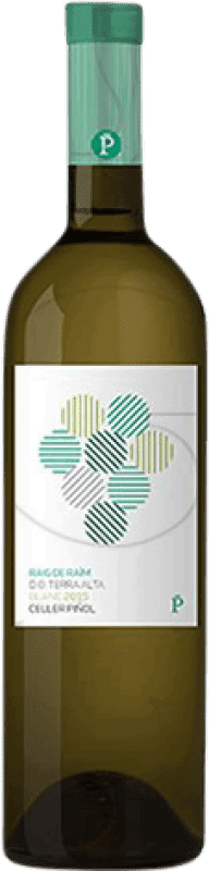 7,95 € Envío gratis | Vino blanco Piñol Raig de Raïm Joven D.O. Terra Alta Cataluña España Garnacha Blanca, Macabeo Botella 75 cl