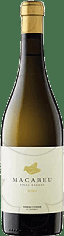 21,95 € Envío gratis | Vino blanco Tomàs Cusiné Finca Racons Crianza D.O. Costers del Segre Cataluña España Macabeo, Albariño Botella 75 cl