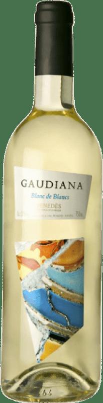 3,95 € Free Shipping | White wine Pinord Gaudiana Blanc de Blancs Joven D.O. Penedès Catalonia Spain Muscatel, Macabeo, Xarel·lo, Parellada Bottle 75 cl