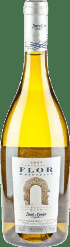 15,95 € | White wine Juvé y Camps Flor d'Espiells Barrica Crianza D.O. Penedès Catalonia Spain Chardonnay Bottle 75 cl