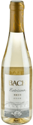 2,95 € Free Shipping | White wine Bach Dry Joven D.O. Catalunya Catalonia Spain Macabeo, Xarel·lo, Chardonnay Half Bottle 37 cl