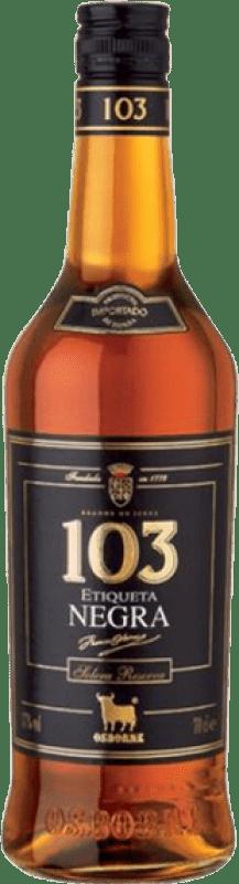 14,95 € Envío gratis | Brandy Osborne 103 Etiqueta negra España Botella 70 cl