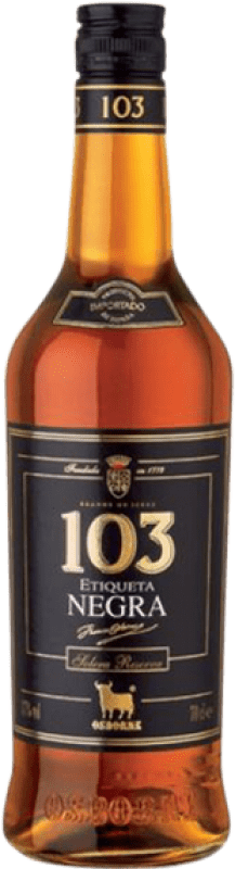 14,95 € Free Shipping | Brandy Osborne 103 Etiqueta negra Spain Bottle 70 cl