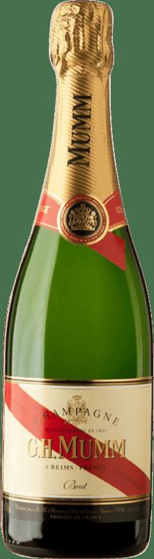 31,95 €   White sparkling G.H. Mumm Cordon Rouge Brut Gran Reserva A.O.C. Champagne France Pinot Black, Chardonnay, Pinot Meunier Bottle 75 cl