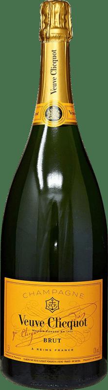 101,95 € Free Shipping | White sparkling Veuve Clicquot Carte Jeune Brut Gran Reserva A.O.C. Champagne France Pinot Black, Chardonnay, Pinot Meunier Magnum Bottle 1,5 L