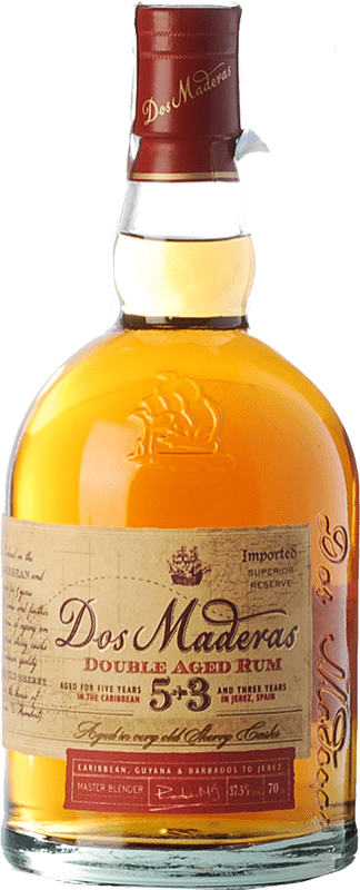 22,95 € Free Shipping | Rum Williams & Humbert Dos Maderas Añejo 5+3 Spain Bottle 70 cl