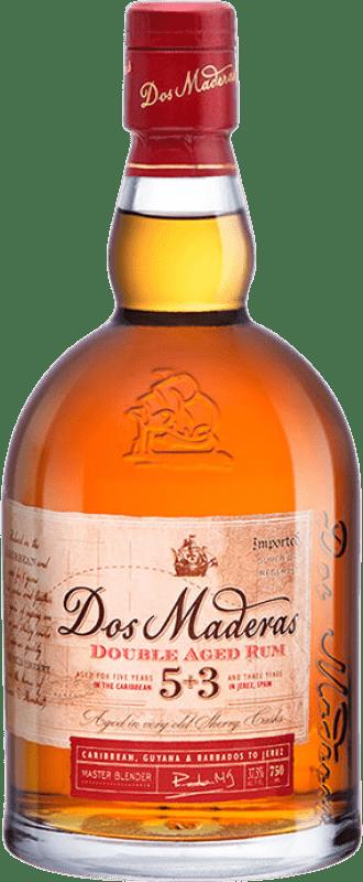27,95 € 免费送货 | 朗姆酒 Williams & Humbert Dos Maderas Añejo 5+3 西班牙 瓶子 70 cl