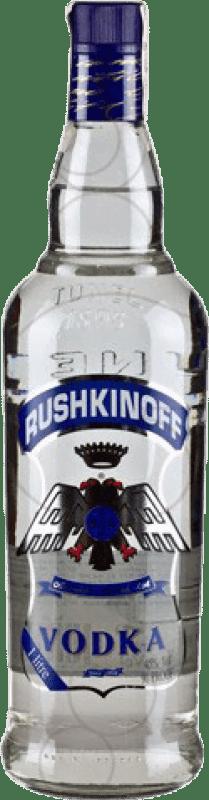 11,95 € Envío gratis | Vodka Antonio Nadal Rushkinoff Blue Label España Botella Misil 1 L