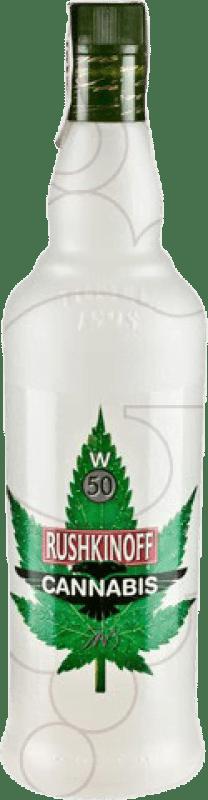 12,95 € Envío gratis | Vodka Antonio Nadal Rushkinoff Cannabis España Botella Misil 1 L