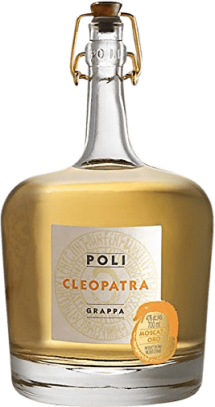 41,95 € Envío gratis | Grappa Poli Cleopatra Oro Italia Botella 70 cl